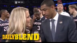 UConn Basketball Coach Playfully Slaps Player After Interview (Video)