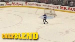 Maple Leafs Fan Somehow Runs Onto Ice; Lightning Bench Loves It (Videos)