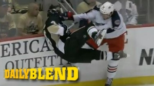 Boone Jenner Blows Up Rob Scuderi In Blue Jackets' Loss To Penguins (Video)