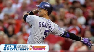 Carlos Gonzalez Swallows His Dip, Has To Leave Colorado Rockies' Game