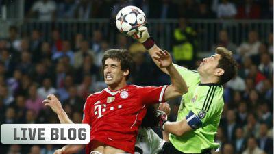 Iker Casillas and Javi Martinez Bayern Munich Real Madrid