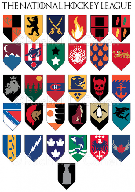 nhl logos game of thrones