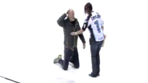 'Major League' Actor Commits Error On Ice In Milwaukee (Video)