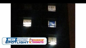 Louisville Fans Mock Kentucky Fan's Dorm Flag After National Title Game (Photo)