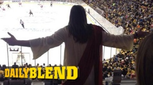 Jesus Is Fan Of The Game At Bruins-Red Wings Easter Matchup (Photos)