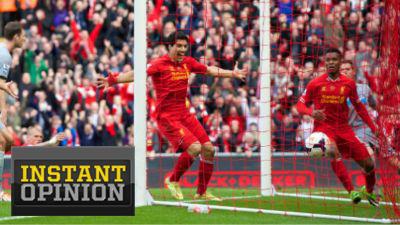 Luis Suarez and Daniel Sturridge Liverpool Newcastle