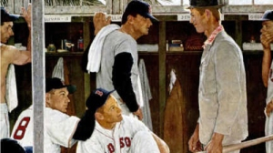 Norman Rockwell's 'The Rookie (Red Sox Locker Room)' To Be Auctioned