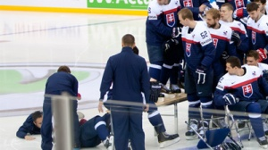 Tomas Tatar Falls Off Bench During Slovakian Team Picture (Photo)