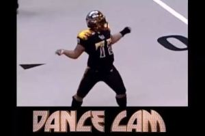 Arena Football League Player Busts A Move On 'Dance Cam' During Game (Video)