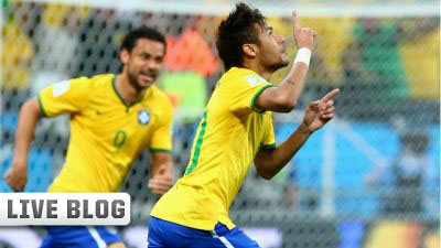Neymar and Fred World Cup 2014