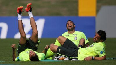 Neymar, Dani Alves and Fred
