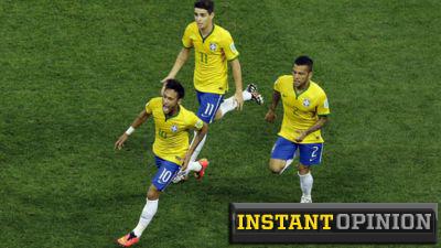 Neymar Oscar and Dani Alves