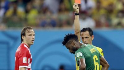 Alex Song Red Card Cameroon Croatia 2014 World Cup