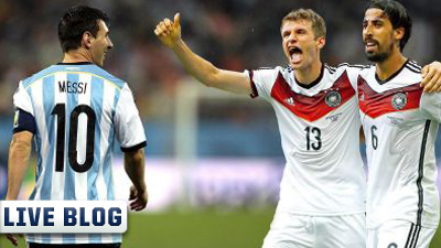 Lionel Messi, Thomas Muller and Sami Khedira 2014 World Cup Final
