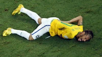 Neymar injury Brazil Colombia World Cup 2014