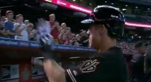 D-Backs Rookie High-Fives Imaginary Teammates After First Home Run (Video)