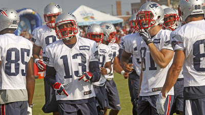 New England Patriot's NFL team practice with the Washington Redskins in Richmond, Va.