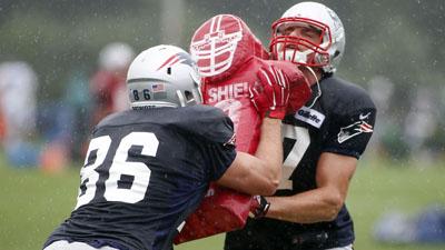 NFL: Philadelphia Eagles and New England Patriots Practice