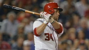 Nationals' Bryce Harper Goes 2-For-4 Using Yasiel Puig's Bat (Photo)