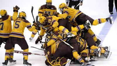 NCAA Hockey: Frozen Four-Minnesota vs North Dakota