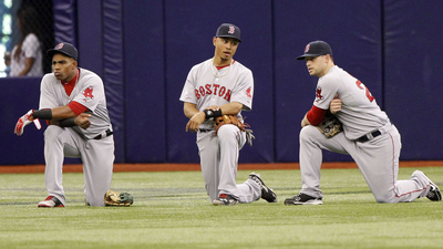 Yoenis Cespedes, Mookie Betts, Daniel Nava