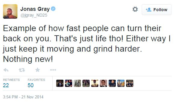 Jonas Gray tweet