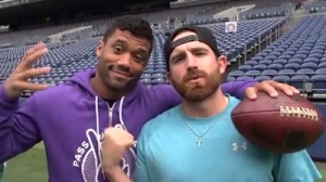 Seattle Seahawks Team Up With Dude Perfect For NFL Trick Shot Video