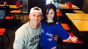 Brett Lawrie Has Pizza With Girl Who Cried When Jays Traded Him (Photos)