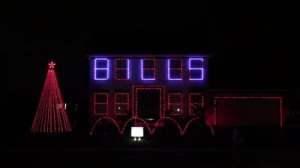 Bills Fan Celebrates Team With Crazy Christmas Light Display (Video)