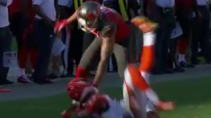 Mike Evans Slams Terence Newman To Ground With Huge Block (Video)