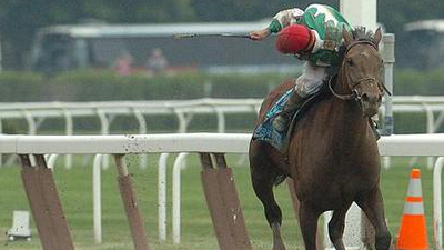 Afleet Alex wins the Belmont Stakes