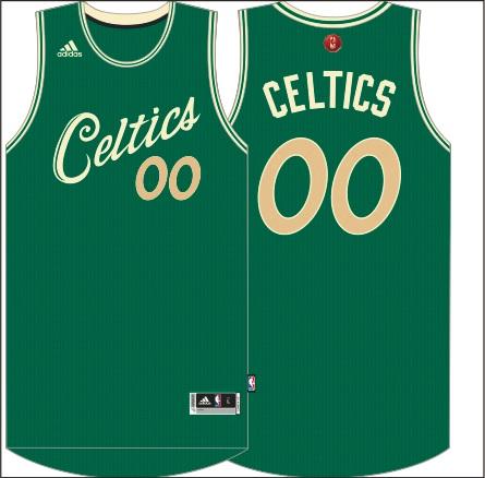 Boston Celtics Christmas jerseys