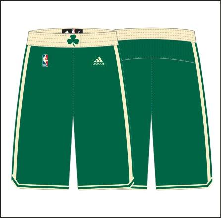 Boston Celtics Christmas shorts