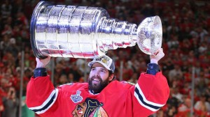 Corey Crawford Drops Another F-Bomb At Blackhawks' Stanley Cup Rally (Video)