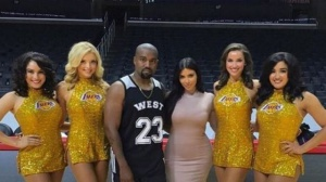 Kanye Takes Over Staples Center For Basketball-Themed Birthday Party (Photos)