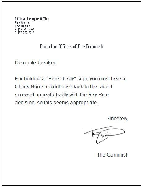 Free Brady sign