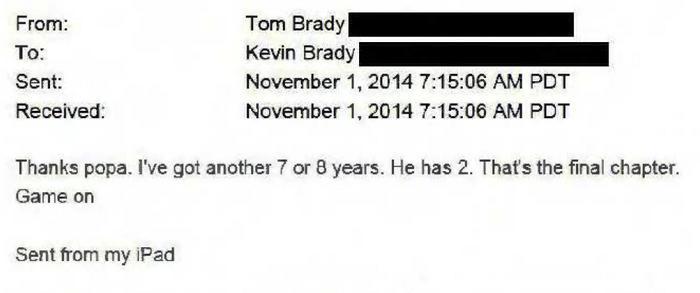 Tom Brady email