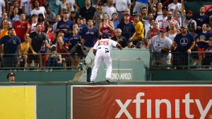 Jackie Bradley Jr. Jumps Onto Bullpen Wall In Attempt To Rob Home Run (Video)