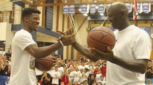 Michael Jordan Takes Down Jimmy Butler In Shootout, Still Has Game (Video)