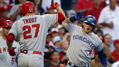 Los Angeles Angels outfielder Mike Trout and Toronto Blue Jays third baseman Josh Donaldson