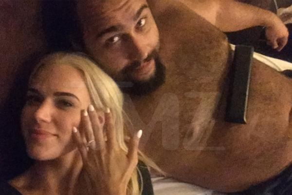 WWE stars Lana and Rusev