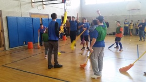 NESN Connects Takes On Newton Tigers In Game Of Floor Hockey (Photos)