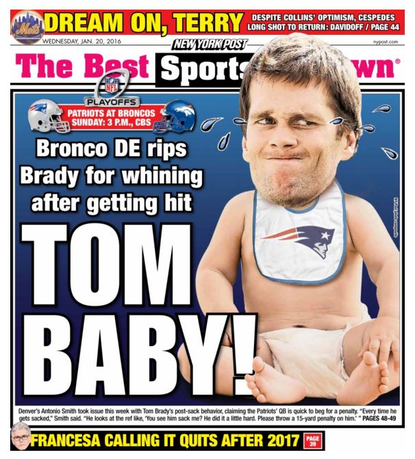 Tom Brady New York Post