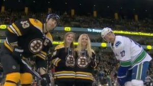 Denna Laing Sends Message To Crowd During Bruins Pregame Tribute (Video)