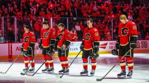 Who Did Flames Draft in 2008 With Conditional Pick Acquired From Boston In Andrew Ference Trade?
