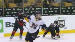 Mini 1-On-1: Needham Peewees Hang On To Beat Minuteman Flames (Video)