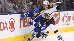 Bruins' David Pastrnak Has Playful Warning For Friend William Nylander (Video)