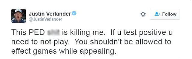 Justin Verlander tweet