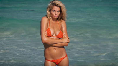 Hailey Clauson models for SI