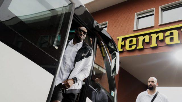 Kobe at Ferrari factory 1